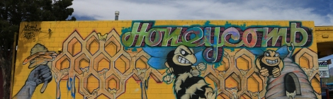 Honeycomb Grafitti Mural