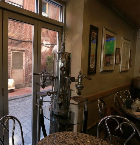 Cafe Vitorrio's Antique Espresso Pump