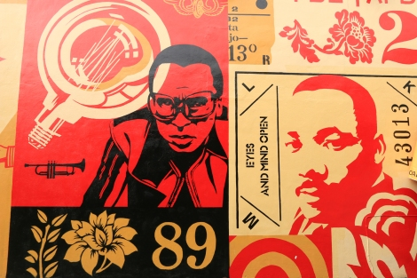 Wynwood Walls | Shepard Fairey takes on Miles Davis and MLK