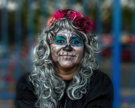 Portrait of Donika in Calavera makeup and costume